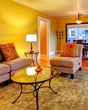 livingroom after staging