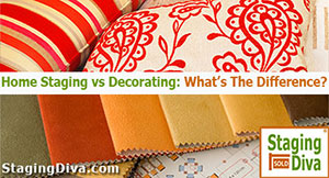 difference between home staging and decorating