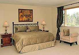Staging Diva turns this master bedroom into a real show stopper