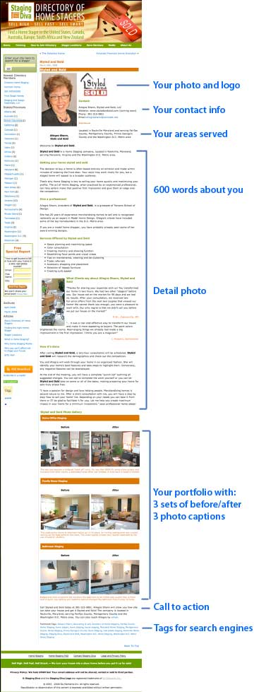 Sample Staging Diva Directory of Home Stagers